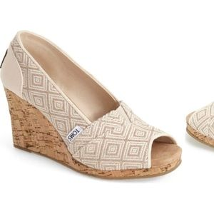 TOMS Classic Woven Wedge Sandal